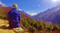 Looking at Mt. Everest