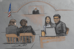 Meng courtroom sketch