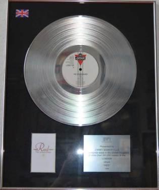 BPI Sales Award The Communards Red Disk