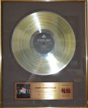 CRIA Sales Award Bronski Beat The Age Of Concent Disk