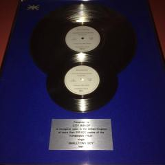 Jimmy Somerville Silver Award Bronski Beat Smalltown Boy