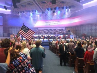 American Flag In Church