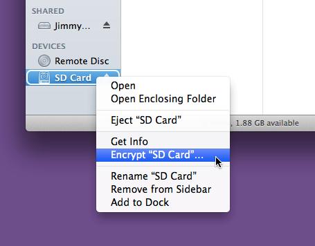 Ecrypt external drive