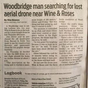 lodi, ar drone, video, Woodbridge, web design, drone, Lodi News Sentinel, graphic design