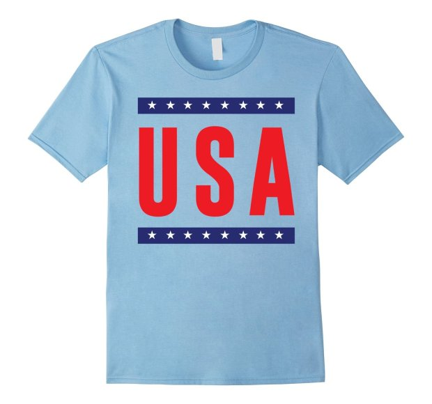 Fun Shirts USA Patriotic Colors (light blue shirt)