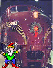 E7 locomotive with wreath