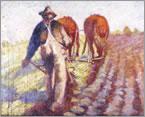 Plowing fields