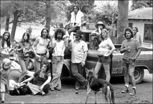 Hippie squatters.