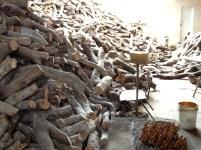 Raw olive wood