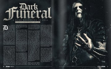 Dark Funeral cover story. Issue 25.