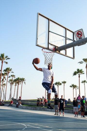 Venice Beach Basketball Courts.