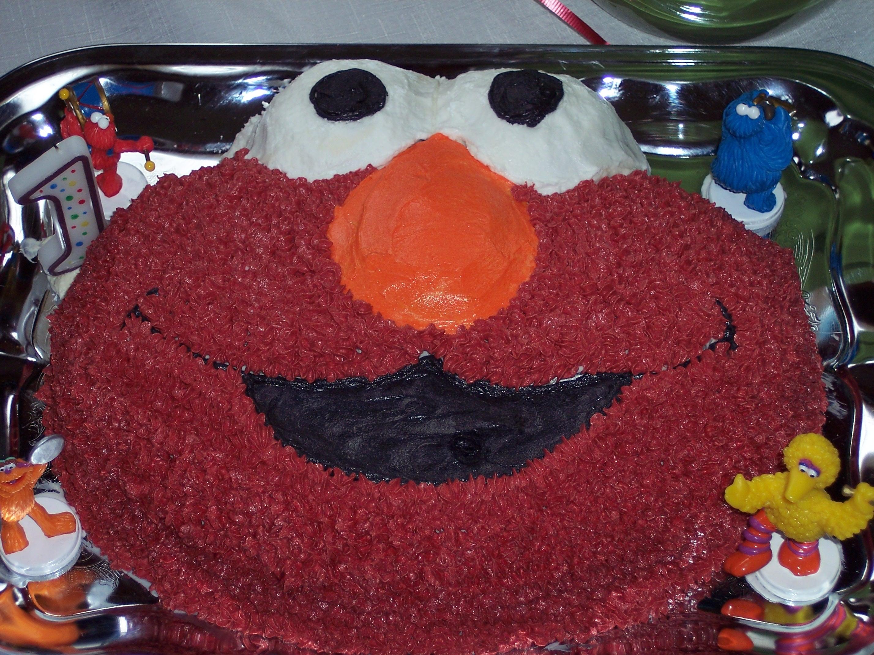 An Elmo Birthday Cake