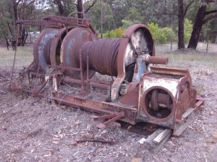 Old winch at Forrest