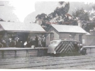 Historical photo of 'Tiger' at Forrest railway station
