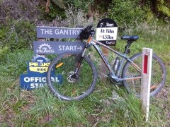 The start of the 7Peaks ride