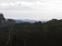 View to the distant mountains