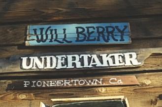 Undertaker's sign