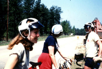 Sandy-Young-on-USC-Bicycle-Touring-Class-overnight-bike-trip-to-Billy-Dreher-State-Park-Spring-1984