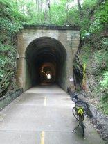 Jim-Schmid's-Bacchetta-Giro-recumbent-at-tunnel-on-Silver-Comet-Trail-GA-2015-5-11-to-14