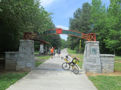 Jim-Schmid's-Bacchetta-Giro-recumbent-at-Alabama-border-on-Silver-Comet-Trail-GA-2015-5-11-to-14