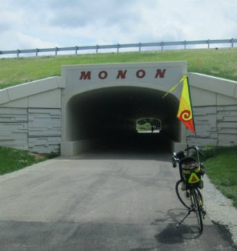 Jim-Schmid's-Bacchetta-Giro-recumbent-at-tunnel-Monon-Trail-IL-2015-08-23