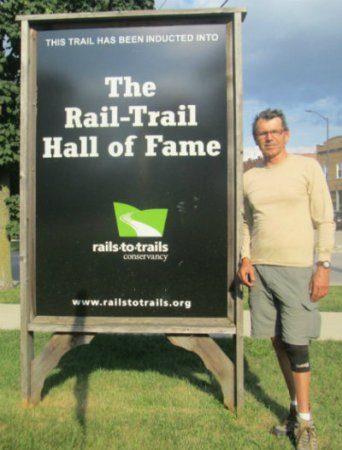 29-Jim-Schmid-next-to-Rail-Trail-Hall-of-Fame-sign-Illinois-Prairie-Path-Main-Stem-2015-0-8-21-23-400pix