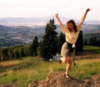 Sandra-Schmid-on-trail-in-Park City-UT-1998