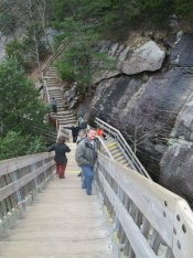 Sandra-Schmid-on-stairs-Chimney-Rock-State-Park-NC-2016-01-01