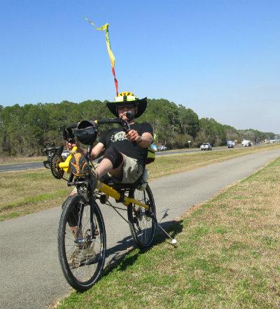 Jim-Schmid-riding-Bacchetta-Giro-recumbent-on-Waldo-Road-Greenway-Gainesville-FL-02-18-2016
