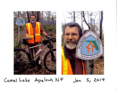 Jim-Schmid-at-Camel-Lake-completion-of-Florida-Nat-Scenic-Trail-2014-Jan-5