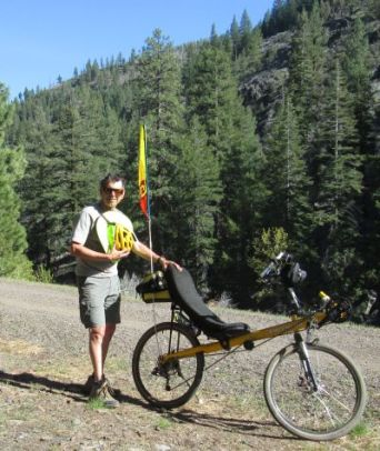 Jim-Schmid-with-Bacchetta-Giro-recumbent-on-Bizz-Johnson-Trail-Susanville-CA-4-17&18-2016