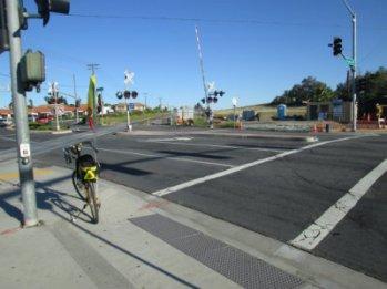 Jim-Schmid's-Bacchetta-Giro-recumbent-at-end-of-Inland-Rail-Trail-Escondido-CA-4-16-2016
