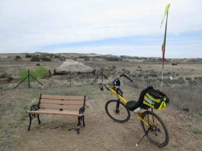 Jim-Schmid's-Bacchetta-Giro-recumbent-at-end-of-Prescott-Peavine-Trail-AZ-4-7-2016