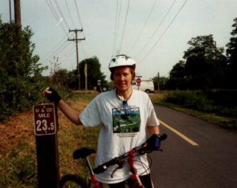 Sandra-Schmid-bicycling-on-W&OD-Rail-Trail-VA-2000