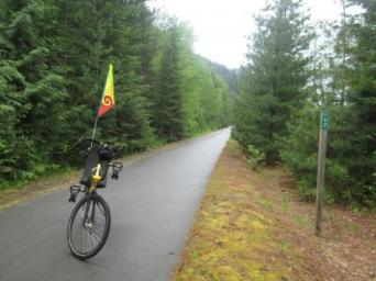 Jim-Schmid's-Bacchetta-Giro-recumbent-at-Milepost-62-Trail-of-the-Coeur-d'Alenes-ID-5-15-2016