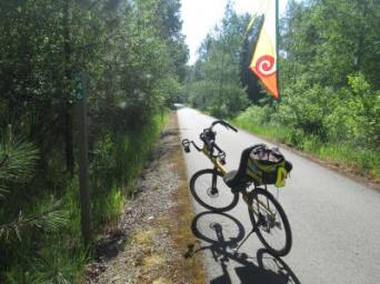 Jim-Schmid's-Bacchetta-Giro-recumbent-at-Milepost-46-Trail-of-the-Coeur-d'Alenes-ID-5-14-2016