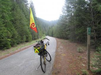 Jim-Schmid's-Bacchetta-Giro-recumbent-at-Milepost-70-Trail-of-the-Coeur-d'Alenes-ID-5-15-2016