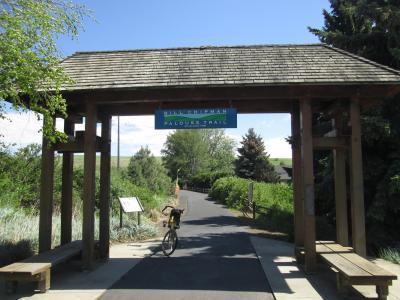 Jim-Schmid's-Bacchetta-Giro-recumbent-on-Chipman-Trail-Moscow-ID-to-Pullman-WA-5-8-2016