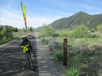 Jim-Schmid's-Bacchetta-Giro-recumbent-at-milepost-6-Wood-River-Trail-Ketchum-to-Bellevue-ID-5-5-2016