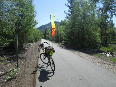 Jim-Schmid's-Bacchetta-Giro-recumbent-at-Milepost-33-Trail-of-the-Coeur-d'Alenes-ID-5-13-2016