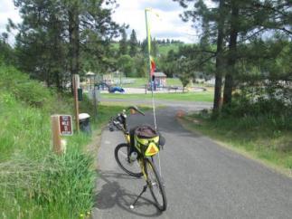 Jim-Schmid's-Bacchetta-Giro-recumbent-Milepost-11-on-Latah-Trail-Moscow-to-Troy-ID-5-9-2016