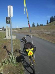 Schmid's-Bacchetta-Giro-recumbent-Rail-Trail-Network-sign-Centennial-Trail-ID-4-28-2016