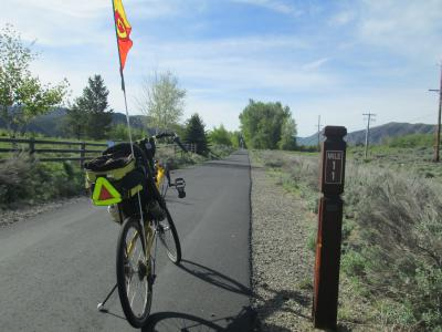 Jim-Schmid's-Bacchetta-Giro-recumbent-at-milepost-11-Wood-River-Trail-Ketchum-to-Bellevue-ID-5-5-2016