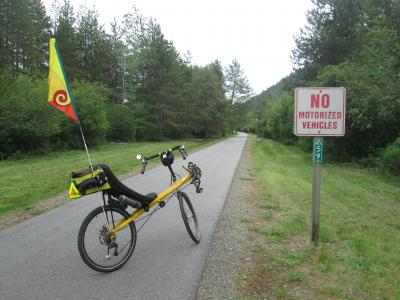 Jim-Schmid's-Bacchetta-Giro-recumbent-at-Milepost-59-Trail-of-the-Coeur-d'Alenes-ID-5-14-2016