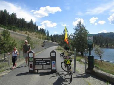 Jim-Schmid's-Bacchetta-Giro-recumbent-at-Higgins-Pt-on-Centennial-Trail-Coeur-d'alene-ID-5-11-2016