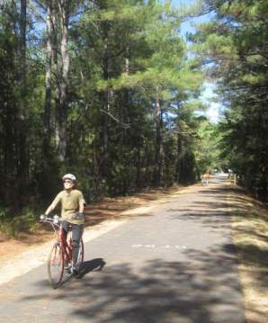 Sandra-Schmid-bicycling-on-Doodle-Trail-Pickens-SC-10-24-2016