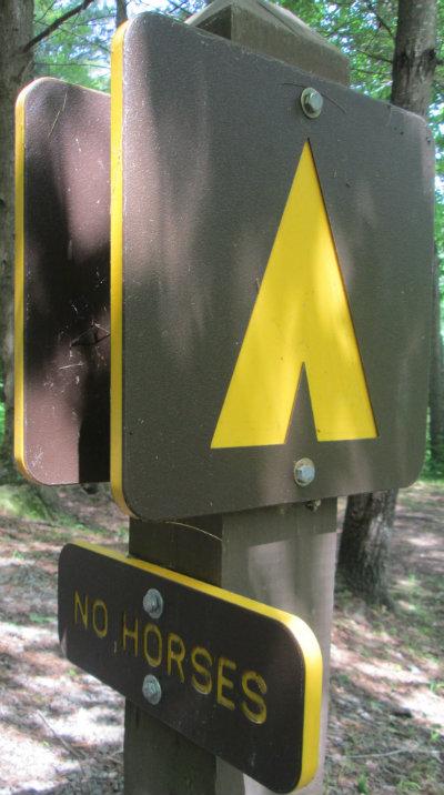 Tent_symbol_no_horses_sign_Greenbrier-River-Trail-WV-06_21-24-2015