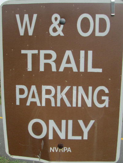 Trail-parking-only-sign-W&OD-Rail-Trail-VA-2015-10-6&7