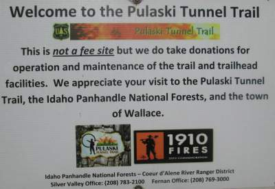 Welcome-sign-Pulaski-Tunnel-Trail-Wallace-ID-5-15-2016
