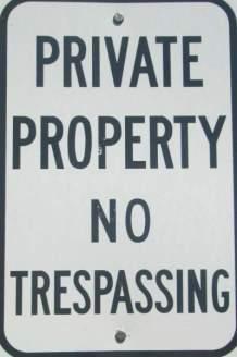 Private-property-sign-Prairie-Spirit-Trail-Ottawa-to-Iola-KS-6-3-2016